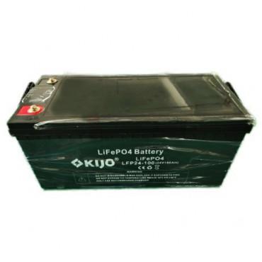 Акумуляторна батарея Kijo LiFePo4 24V 100Ah з LED дисплеєм