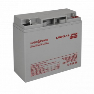 Акумуляторна батарея Logicpower LPM-GL 12V-20 Ah