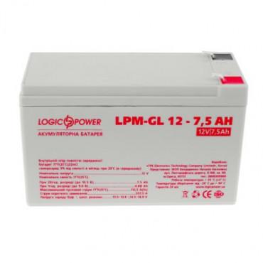 Акумуляторна батарея Logicpower LPM-GL 12V-7.5 Ah