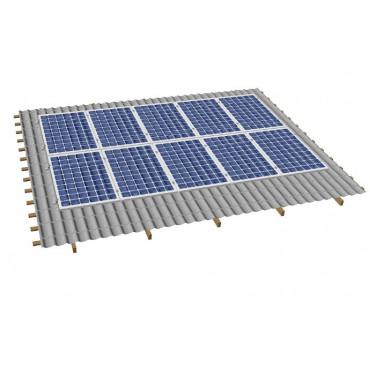 Кріпленя на скатний дах для 10 сонячних батарей