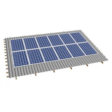 Кріпленя на скатний дах для 12 сонячних батарей
