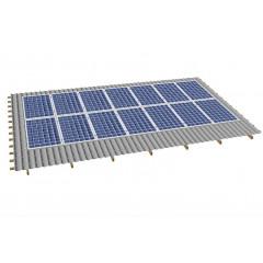 Кріпленя на скатний дах для 14 сонячних батарей