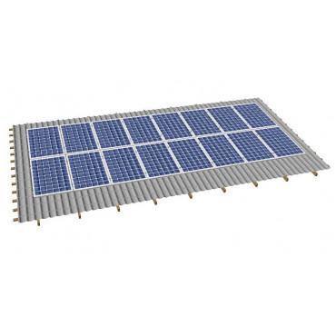 Кріпленя на скатний дах для 16 сонячних батарей