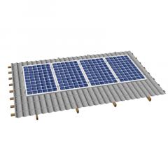 Кріпленя на скатний дах для 4 сонячних батарей