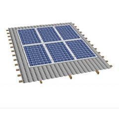 Кріпленя на скатний дах для 6 сонячних батарей