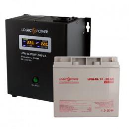 Комплект резервного живлення для котла LogicPower ДБЖ A500VA + гелева батарея 270W