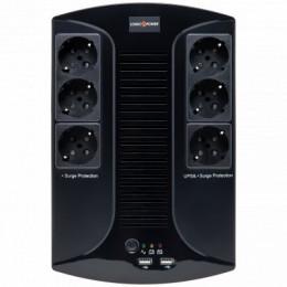 Лінійно-інтерактивний ДБЖ Logicpower LP 650VA-6PS (455Вт)