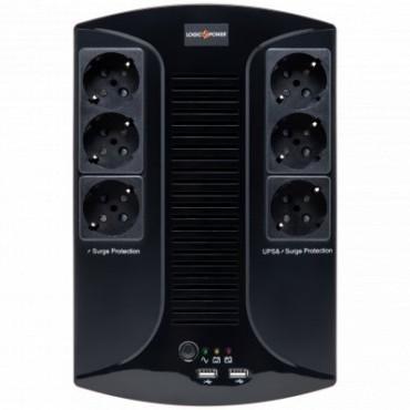 Лінійно-інтерактивний ДБЖ Logicpower LP 850VA-6PS (595Вт)