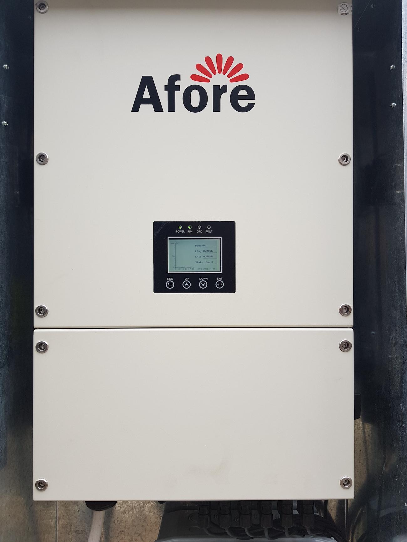 Сонячну електростанцію для дому потужністю 30 кВт встановлено в Угорниках Мережевий інвертор Afore BNT030KTL