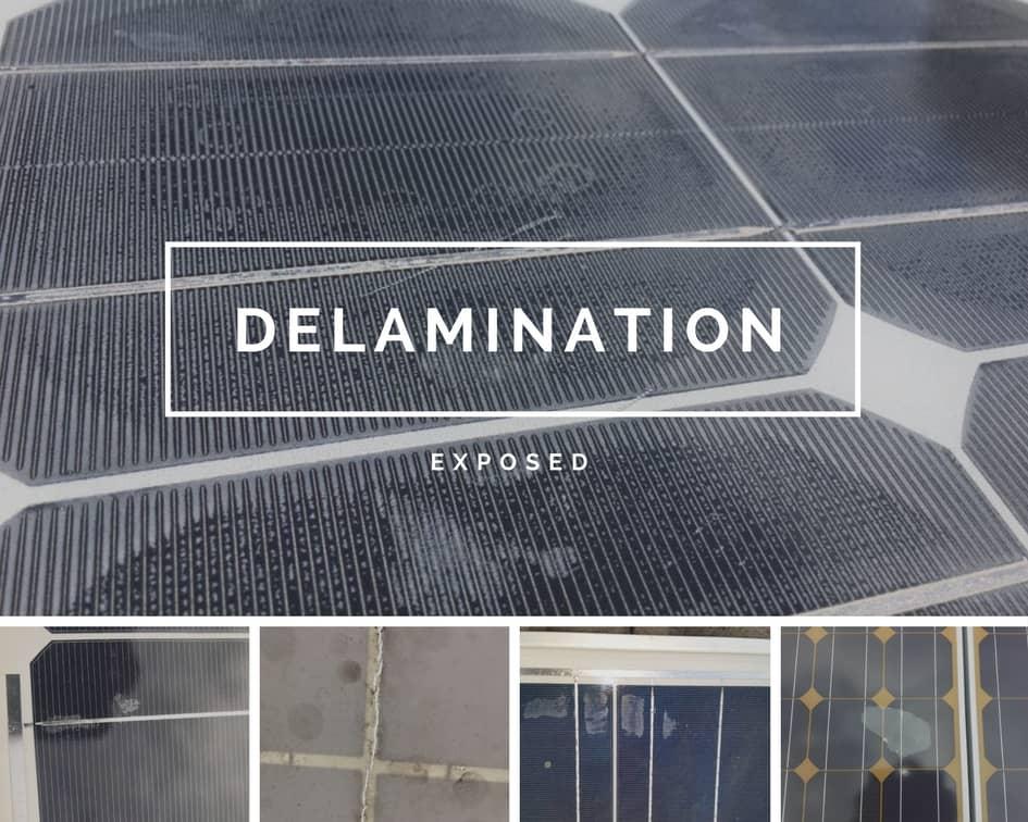 сонячні панелі розшарування