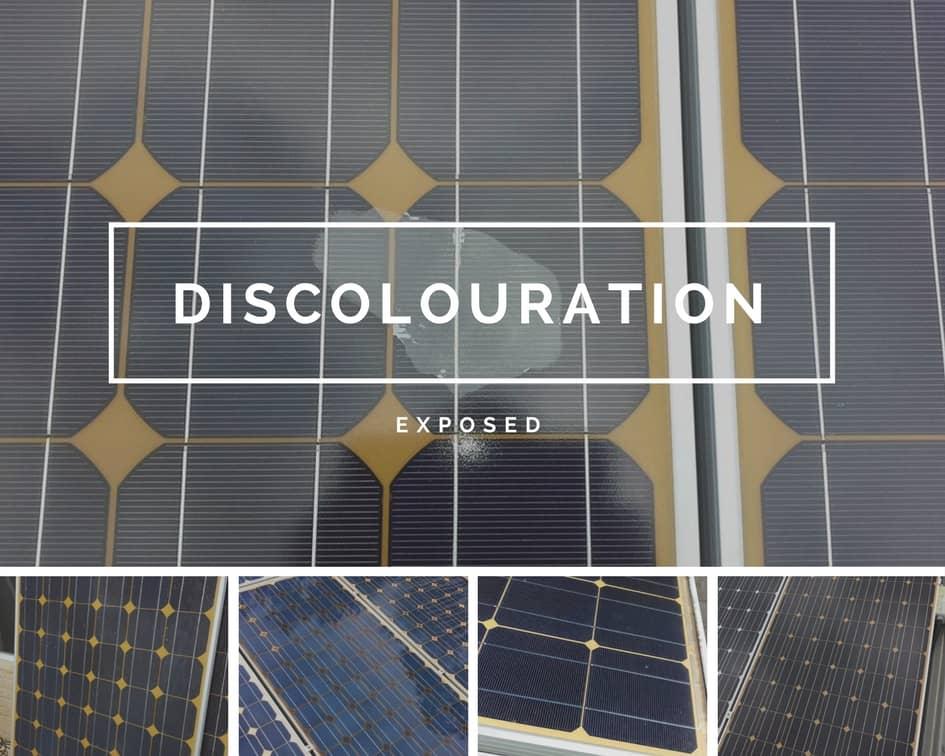 сонячні панелі зміна кольору